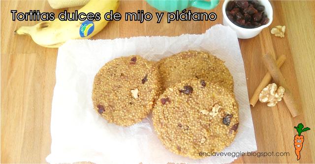 Tortitas Dulces Mijo Plátano